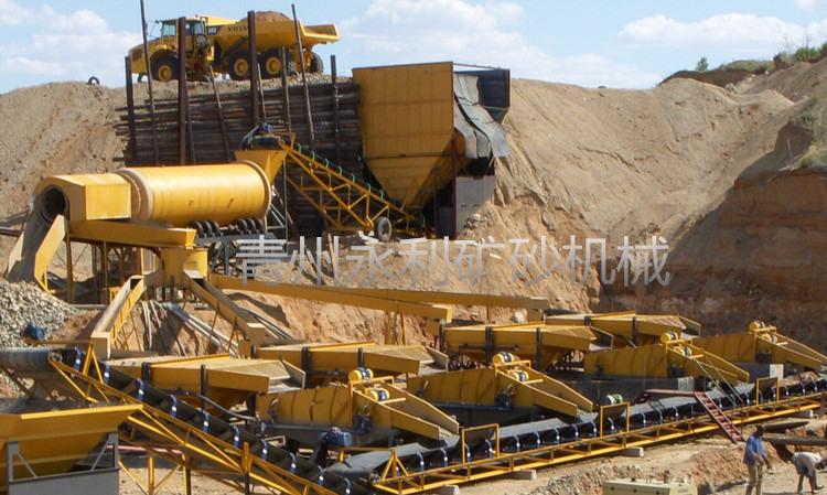 销售到喀麦隆的旱地黄金宝石提取设备