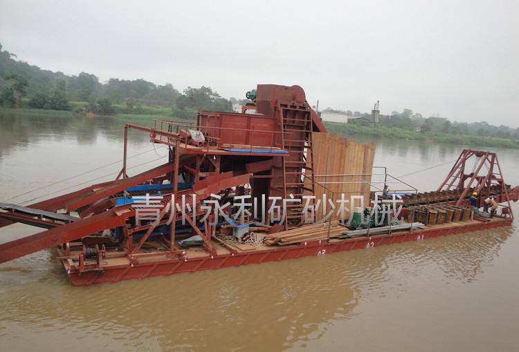 销售到中非的链斗式黄金宝石提取船