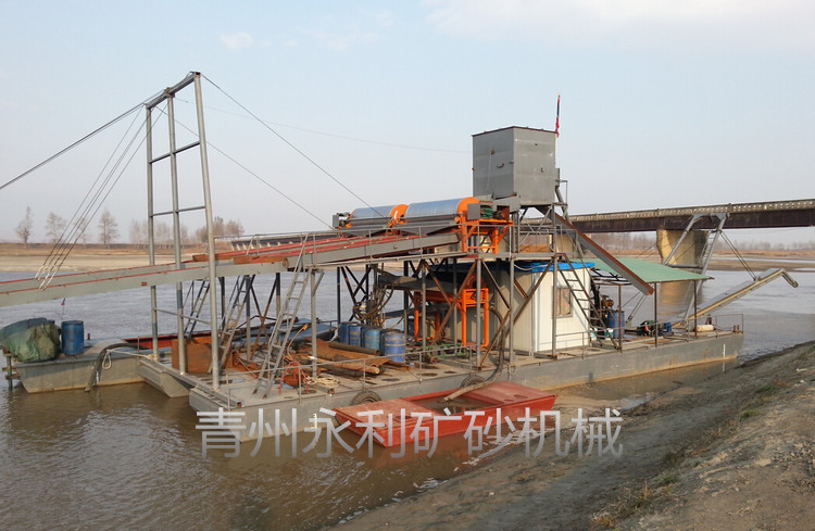 销售到朝鲜的射吸式抽沙选铁选金船