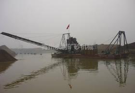 链斗式挖沙船